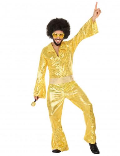Goldenes Disco-Kostüm für Herren
