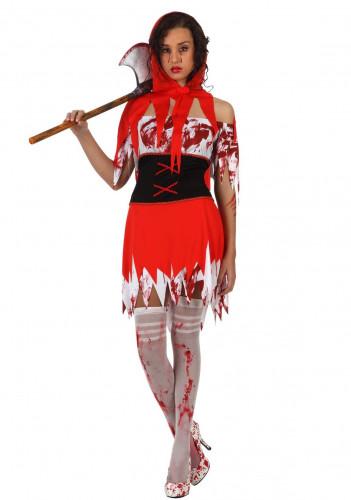 Blutverschmiertes Rotkäppchen-Kostüm für Damen