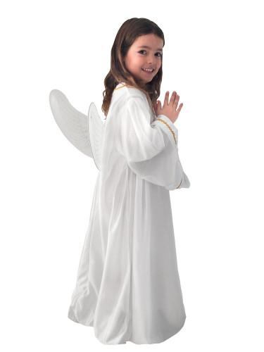Weißes Engel-Kostüm für Kinder