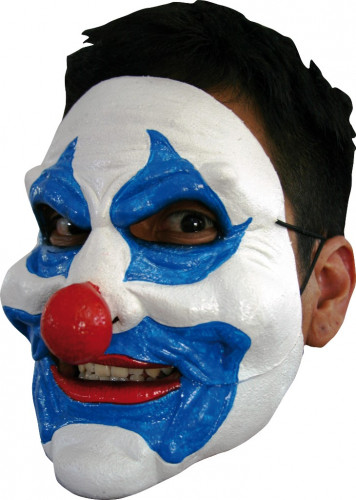 Clown Maske blau Erwachsene Halloween