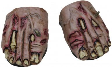 Zombie Füße Überschuhe Halloween für Erwachsene