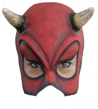 Sexy Teufel Halb-Maske für Erwachsene Halloween