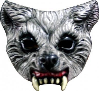 Wolf Halb-Mask für Erwachsene Halloween