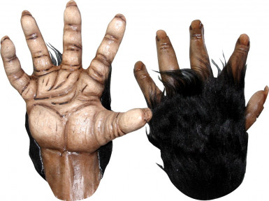 Gorilla Handschuhe für Erwachsene Halloween
