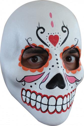 Bunte Totenkopf-Maske Dia de los Muertos für Damen