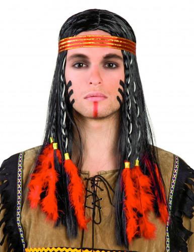 Indianer-Herren-Perücke bunt