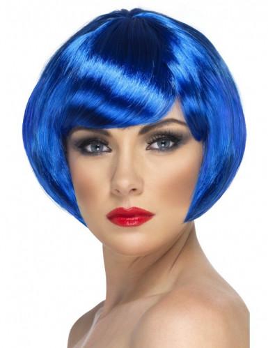 Kurze blaue Perücke für Damen