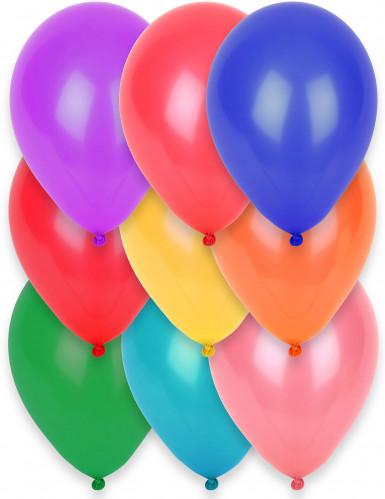 12 Luftballons - verschiedene Farben