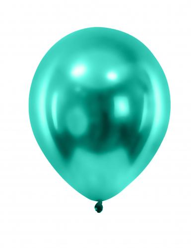 12 Luftballons grün Latex