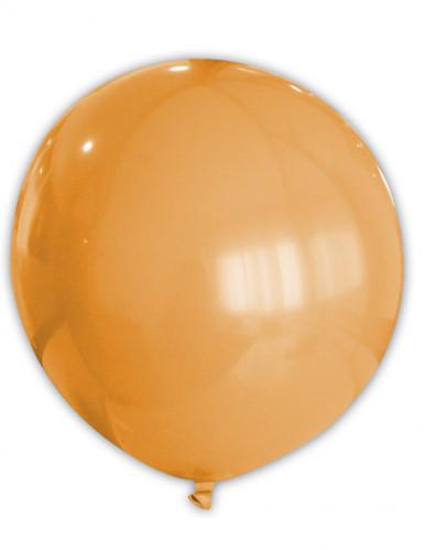 Riesiger orangefarbener Luftballon