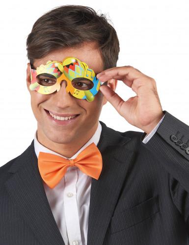 6 Harlekin-Augenmaske in verschiedenen Motiven aus Papier-1
