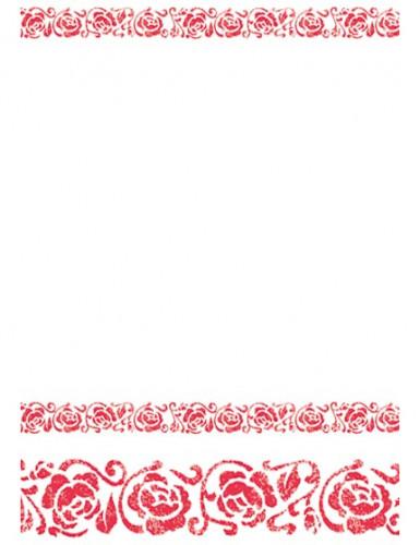 Rote Arabesken Tischdecke