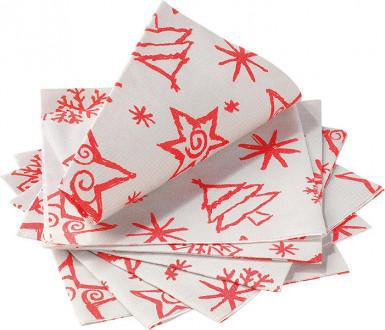 14 Papier Servietten - Christmas Star