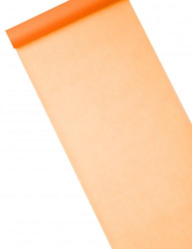 Orangefarbener Tischläufer aus Vlies