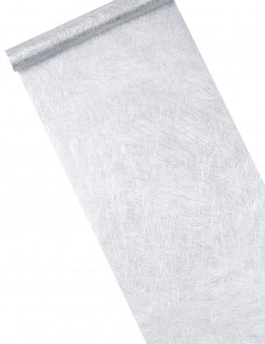 Metallic-Silberner Tischläufer aus Vlies