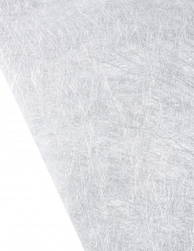 Metallic-Silberner Tischläufer aus Vlies-1