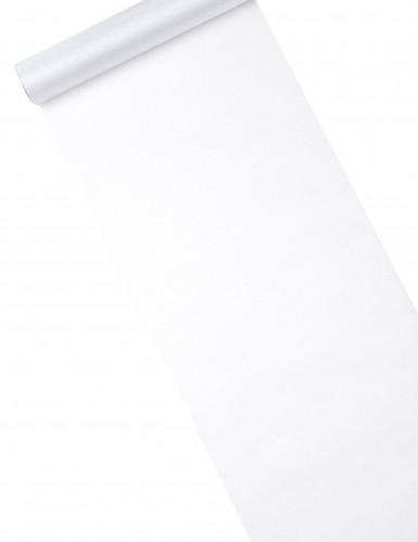Tischläufer aus glänzend weißem Organza