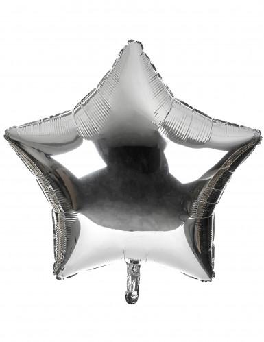 Ballon in Sternenform silberfarben 80 cm