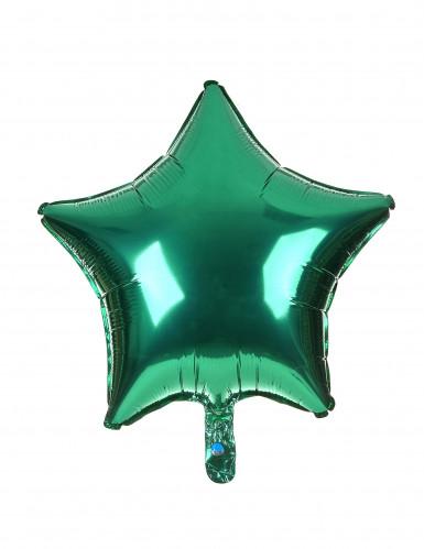 Alu-Luftballon Stern grün