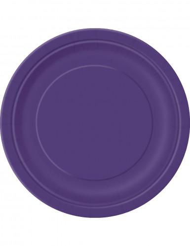 16 Pappteller - violett