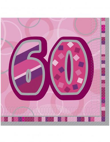16 Servietten 60 in rosa