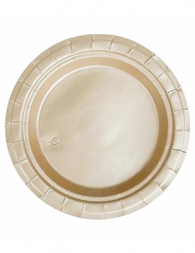 20 kleine goldene Pappteller