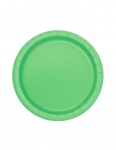20 Pappteller klein - zitronengrün