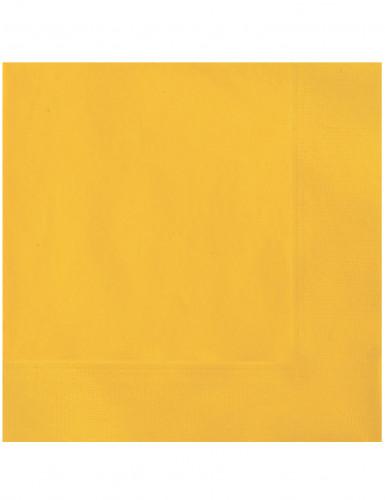 20 gelbe Papier Servietten
