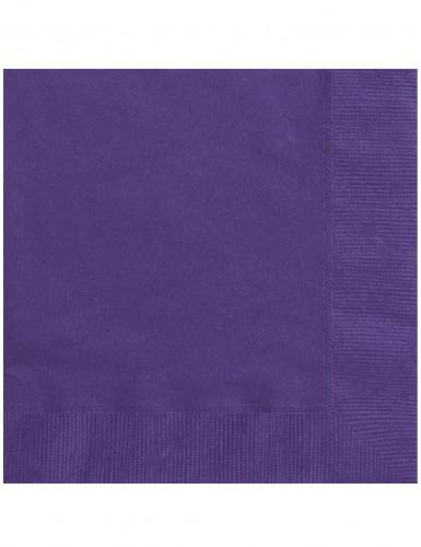 20 dunkel lila Papier Servietten