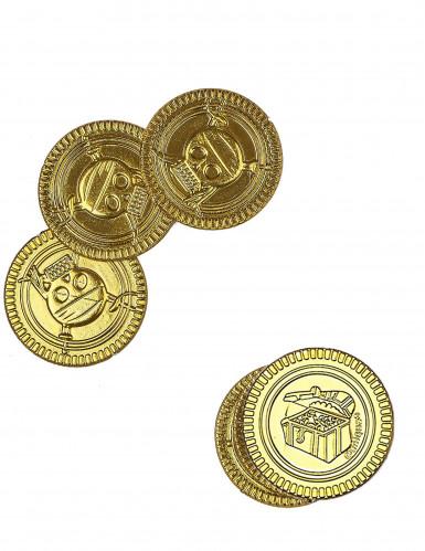30 Goldstücke mit Totenkopf