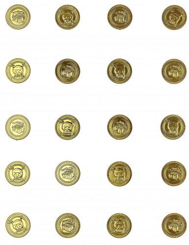 30 Goldstücke mit Totenkopf-1