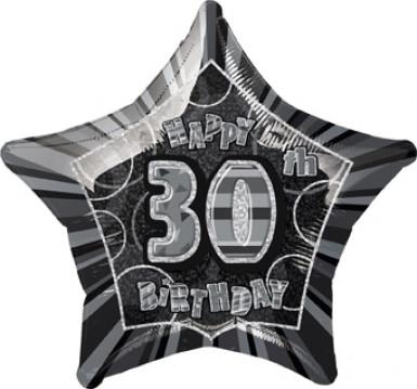 Sternballon zum 30. Geburtstag