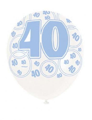 Blaue Ballons zum 40. Geburtstag