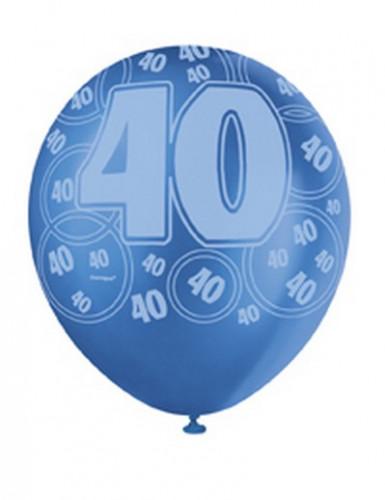 Blaue Ballons zum 40. Geburtstag-2