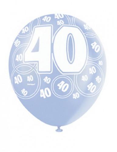 Blaue Ballons zum 40. Geburtstag-1