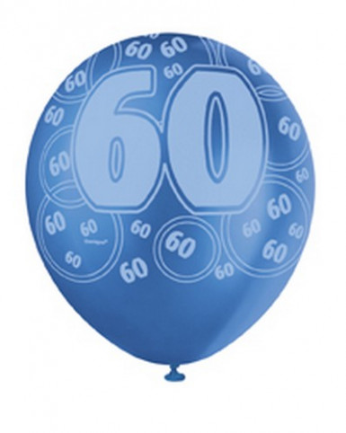 Ballon-Set 60 Jahre, blau-2