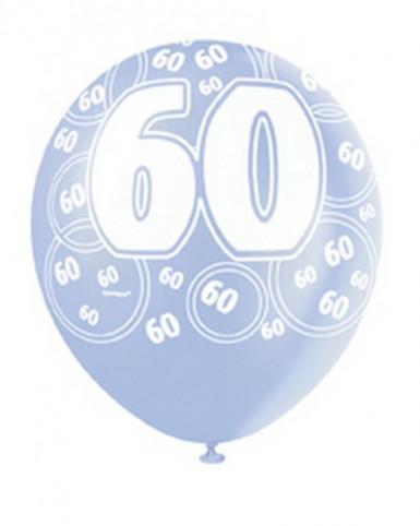 Ballon-Set 60 Jahre, blau-1