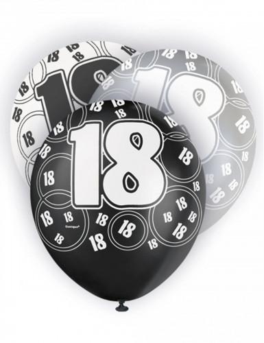 Grauer Luftballon mit der Zahl 18