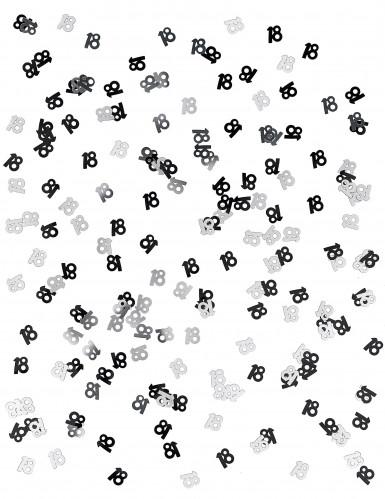Grau-Silber Konfetti Zahl 18-1