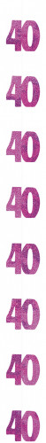 Dekoration für einen 40 Jahre Geburtstag zum Aufhängen
