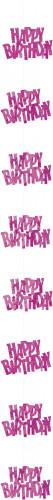 Hänge-Dekoration - Happy Birthday rosa