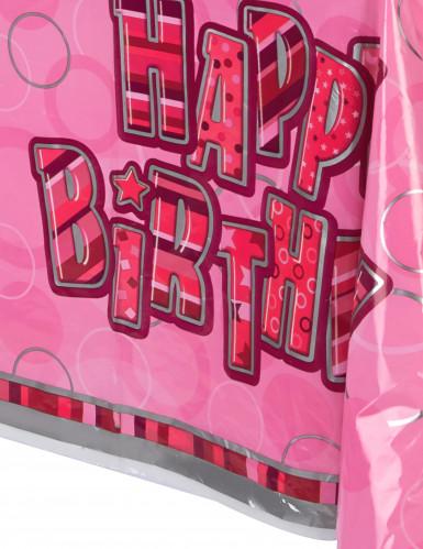 Rosa Happy Birthday Tischdecke-1