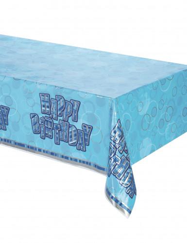 Tischdecke blau - Happy Birthday