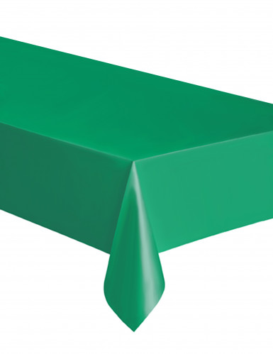 Rechteckige smaragdgrüne Kunststoff-Tischdecke