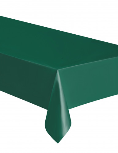 Rechteckige dunkelgrüne Kunststoff-Tischdecke