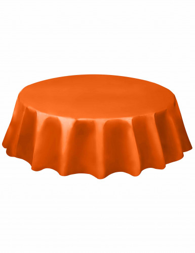 Runde orange Tischdecke