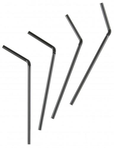 Schwarze Strohhalme