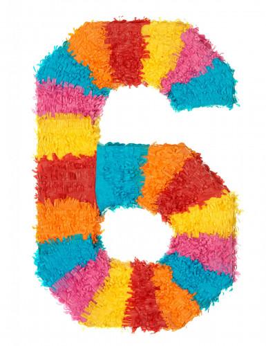 Piñata Zahl 6