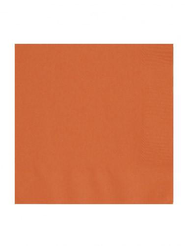 50 orange Papier Servietten