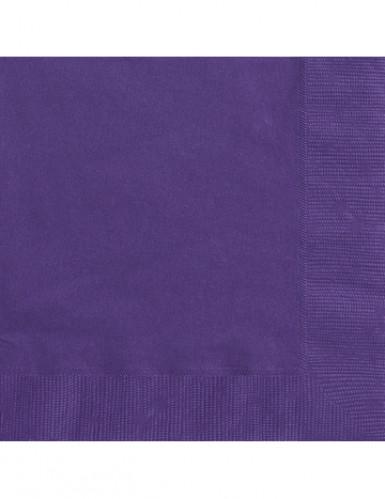 50 dunkel lila Papier Servietten